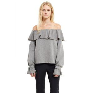 Opening Ceremony Off the Shoulder Ruffle Sweater